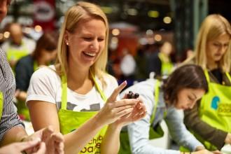 Die Besucher können aus  interaktiven Workshops wählen