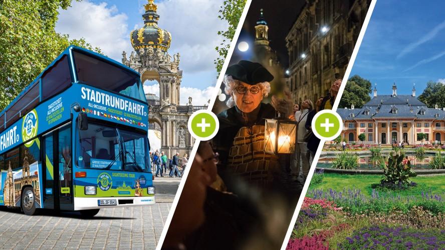 Erweiterung auf Große Stadtrundfahrt 22 Haltestellen (von Tagesausflug Sächsische Schweiz) - Bild 1