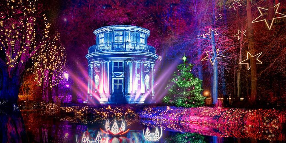 Eintritt Christmas Garden Pillnitz & Rundfahrt im Doppeldecker - Bild 1