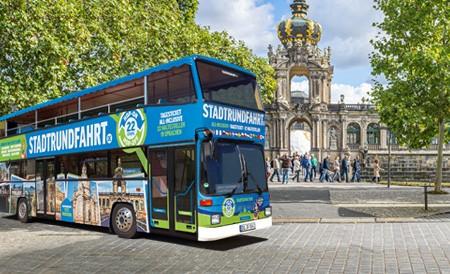 Die Große Stadtrundfahrt Hop on Hop off mit 22 Haltestellen