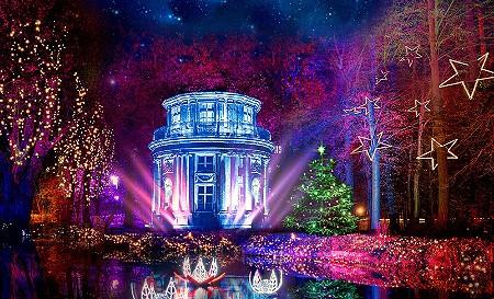 Eintritt Christmas Garden Pillnitz & Rundfahrt im Doppeldecker